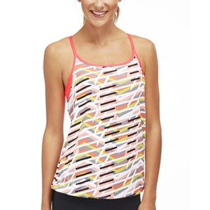 Fabletics yoga tank w built-in bra striped